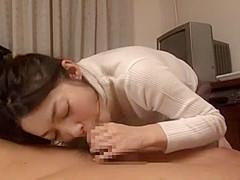Horny Japanese girl in Incredible POV, Blowjob JAV movie