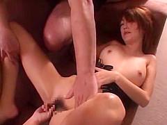 Amazing Japanese chick Kaede Matsushima in Horny Blowjob, Threesome JAV movie