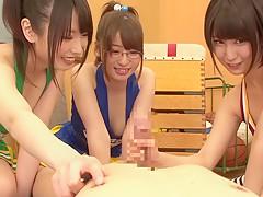 Best Japanese whore Riku Minato, Chika Arimura, Saki Hatsuki in Fabulous blowjob, group sex JAV scene