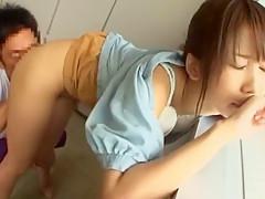 Fabulous Japanese whore Aya Sakuraba, Tomoka Kuriyama, Yuki Natsume in Best Cunnilingus, College/Gakuseifuku JAV clip