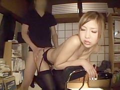 Amazing Japanese girl Miku Kohinata in Exotic Stockings/Pansuto, BDSM JAV scene