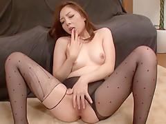 Crazy Japanese model Maki Mizusawa in Amazing JAV uncensored Stockings movie