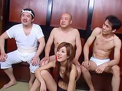 Hottest Japanese girl Risako Konno in Incredible Gangbang, Blowjob/Fera JAV movie