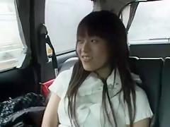 Exotic Japanese girl Runa Akatsuki in Best Car, POV JAV scene