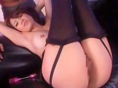 Crazy Japanese model Reina Fujii in Exotic Stockings/Pansuto JAV scene
