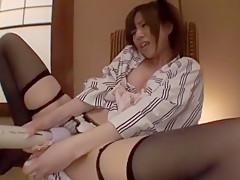Horny Japanese slut Miu Fujisawa in Amazing Masturbation/Onanii JAV scene