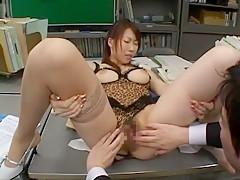 Best Japanese model Kei Hitomi in Exotic Group Sex, Big Tits JAV video