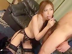 Amazing Japanese whore in Fabulous Stockings/Pansuto, Lingerie JAV video