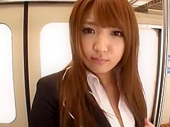 Fabulous Japanese chick Shiori Kamisaki in Crazy Public JAV scene
