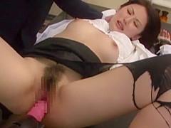 Amazing Japanese girl Takako Kitahara, Nao Yoshizaki in Hottest Toys, Office JAV video