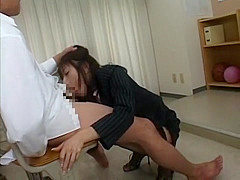 Horny Japanese girl Arisa Suzufusa in Crazy Stockings, Cougar JAV movie