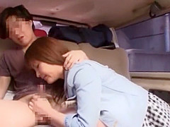Exotic Japanese chick Kanna Harumi in Crazy Couple, Stockings JAV video