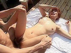 Incredible Japanese chick An Mashiro in Fabulous Outdoor, Big Tits JAV clip