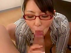 Fabulous Japanese chick Ryoko Murakami in Exotic Cumshot, Gangbang JAV scene