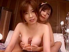 Incredible Japanese model Saki Okuda, Minami Kojima in Fabulous Big Tits, POV JAV video