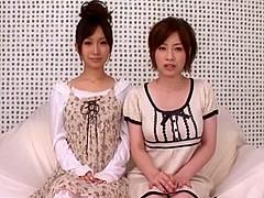 Crazy Japanese slut Minami Kojima, Saki Okuda in Horny JAV movie
