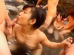 Hottest Japanese girl Mika Nakajou, Miki Kanzaki, Ako Ikeuchi in Best Cumshot, Group Sex JAV movie