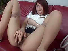 Hottest Japanese girl Nagisa Kazami in Crazy Amateur, Masturbation JAV scene