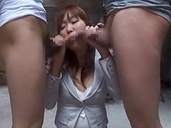 Incredible Japanese whore Yuna Hoshi in Crazy Amateur, Blowjob JAV scene