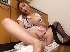 Hottest Japanese girl Rio Hamasaki in Fabulous Maid, MILF JAV clip