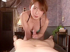 Exotic Japanese chick Yui Hatano in Crazy Handjob, Couple JAV clip
