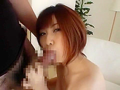 Horny Japanese whore Cocomi Naruse in Amazing Blowjob, Stockings JAV clip