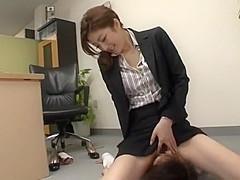 Exotic Japanese girl Ai Haneda in Best Foot Fetish, Office JAV scene