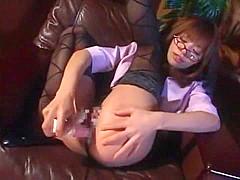Amazing Japanese model Akane Hotaru in Crazy Masturbation, Stockings JAV scene