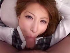 Hottest Japanese girl Leila Aisaki in Exotic Office, Couple JAV scene