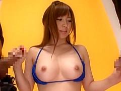 Incredible Japanese whore Fuuka Minase, Mahiro Aine, Rei Mizuna in Crazy Big Tits, Cunnilingus JAV video