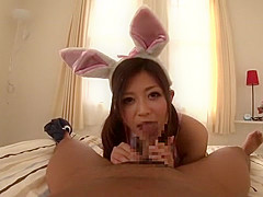 Incredible Japanese girl Haruki Sato in Crazy Blowjob, POV JAV scene
