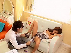 Exotic Japanese chick Marina in Incredible Couple, Lingerie JAV scene