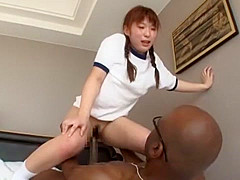 Horny Japanese girl Asuka Morimoto in Crazy Couple, Cunnilingus JAV clip