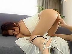 Hottest Japanese whore Nao Ayukawa in Fabulous High Heels, Couple JAV clip