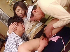 Best Japanese chick in Crazy Gangbang, MILF JAV clip