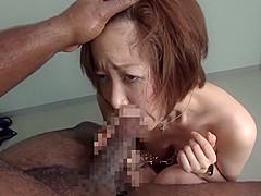 Incredible Japanese girl in Hottest Blowjob, Interracial JAV scene