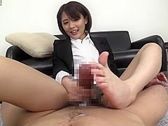 Best Japanese model in Hottest Handjob, HD JAV movie