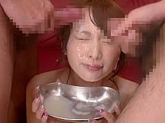 Hottest Japanese girl in Exotic HD, Bukkake JAV scene