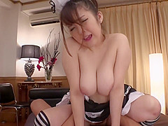 Creampie Your Big Tit Maid - Best Footages from HEYZO-1540
