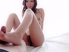 Japanese Hottie Footjob POV 2