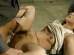 Poor prisoner gal gets hardcore fucked by military men