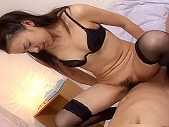 Hot Asian chick fucked hard and swallows tons of cum!