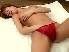 Sexy Ami in red lingerie masturbating!