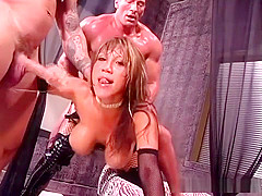 Ava Devine gives group of men an anal sex orgy
