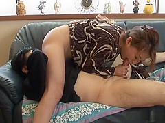 Mature Japanese mother and father share hot sex