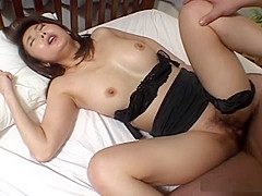 Maria Yuuki enjoys hard fucking and cum on tits
