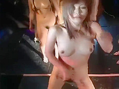 japanese naked girls dance on the stage