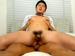 Cute muscle Japanese boy got fucked hard