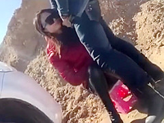 Chinese Voyeur Outdoor Blowjob and Sex