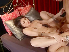 Gorgeous babe Ibuki gets nasty with her guys stiff dick